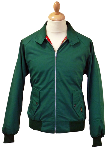 STOMP HARRINGTON JACKET GREEN RETRO MOD SEVENTIES