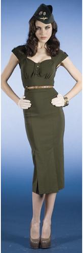 STOP STARING MAJORETTE MILITARY RETRO DRESS RETRO