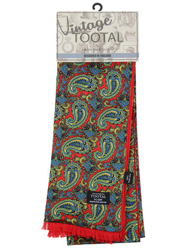 tootal floral paisley scarf Red