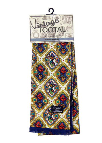 Tootal paisley daimond tile scarf gold