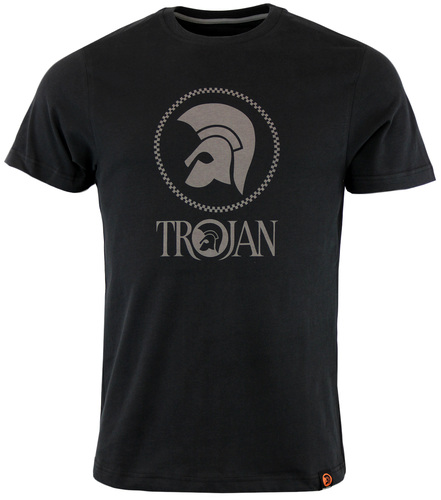 TROJAN RECORDS RETRO INDIE CHEQUERBOARD LOGO TEE