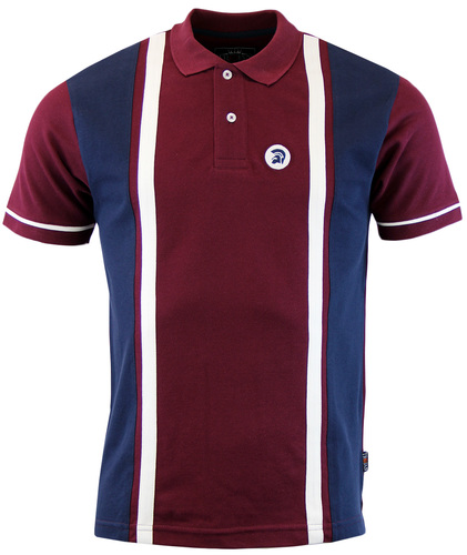 TROJAN RECORDS RETRO 1960S MOD STRIPE PANEL POLO