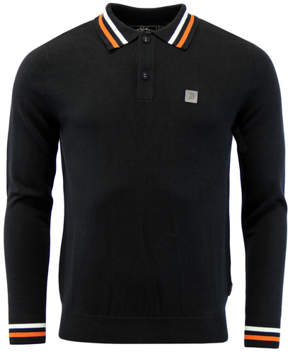 TROJAN RECORDS RETRO MOD 60S KNITTED POLO