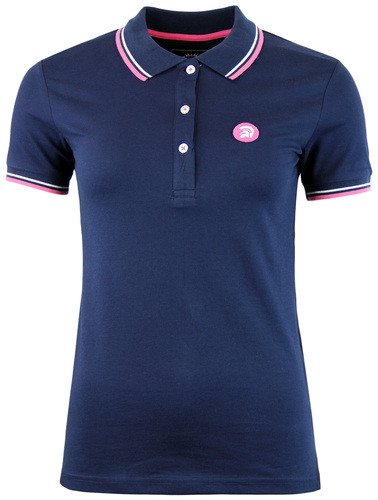 TROJAN RECORDS RETRO MOD 60S TIPPED WOMENS POLO