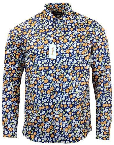 TUKTUK RETRO MOD FLORAL BUTTON DOWN SHIRT