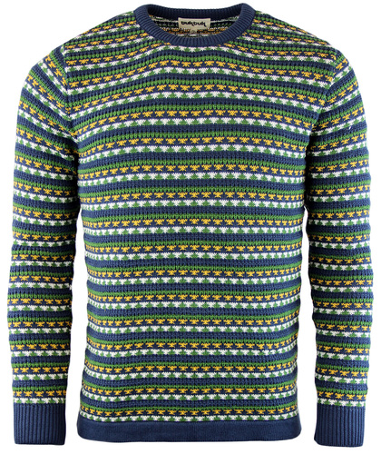 TUKTUK PARSONS RETRO INDIE MOD KNITTED JUMPER