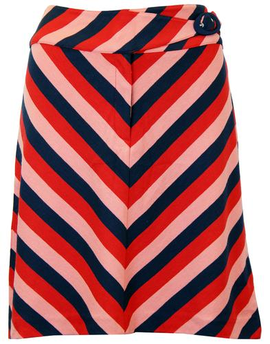 WHOS THAT GIRL BOOGIE RETRO 70S CHEVRON SKIRT