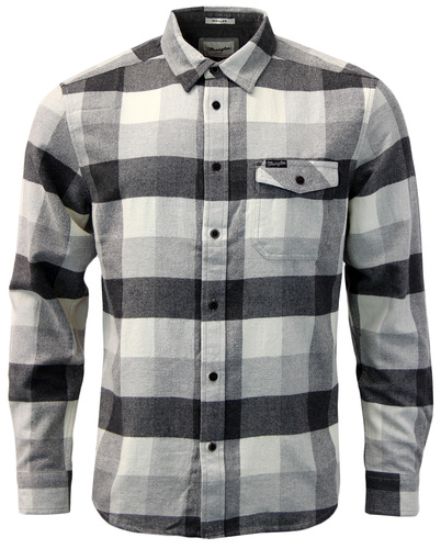WRANGLER RETRO INDIE MOD MENS CHECK SHIRT