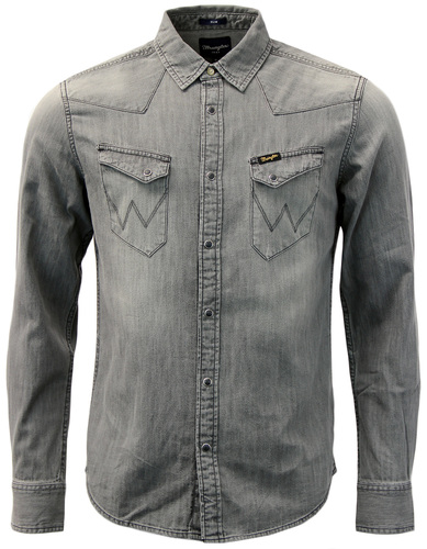 WRANGLER CITY WESTERN RETRO 1960S DENIM SHIRT