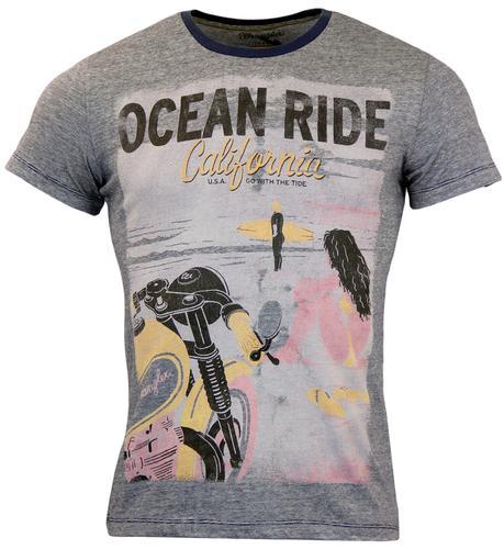 WRANGLER OCEAN RIDE RETRO FINE STRIPE TEE