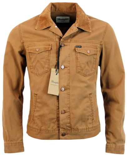 WRANGLER RETRO 70S DENIM WESTERN JACKET RUST