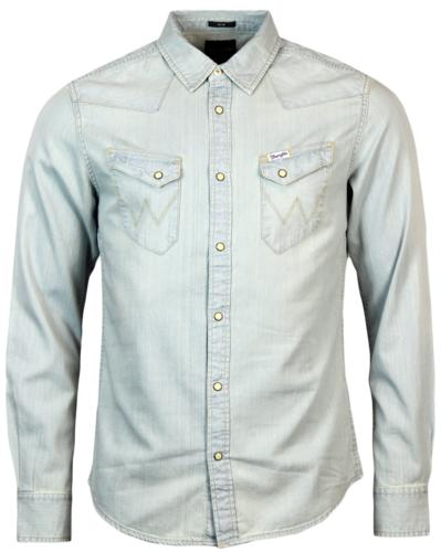 WRANGLER RETRO 70S DENIM WESTERN SHIRT