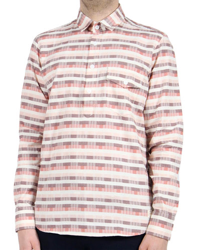 AFIELD Men's Retro 70s Over The Head Shirt - Tiles
