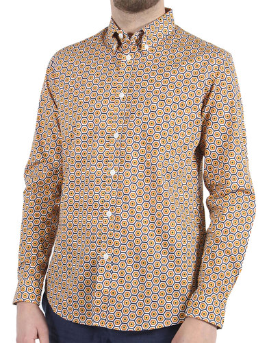 Sunbrella AFIELD Retro 70s Mod Honeycomb Shirt