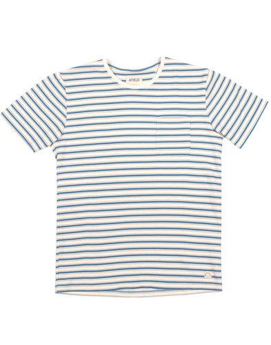 AFIELD Retro Mod Woven Terry Stripe Pocket T-shirt