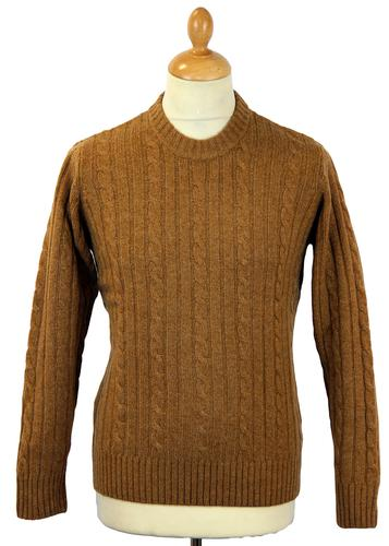 ALAN PAINE RETRO MOD KNIT CABLE KNIT JUMPER