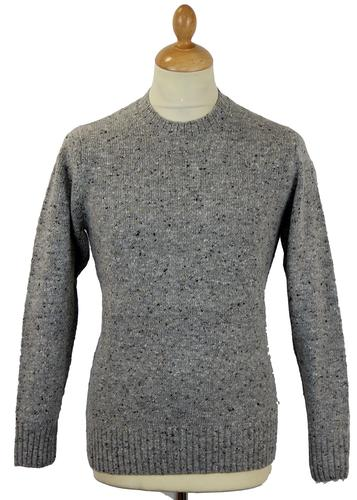 ALAN PAINE RETRO MOD DONEGAL CREW JUMPER GREY