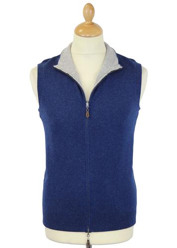ALAN PAINE RETRO REVERSIBLE GILET TOP 70S