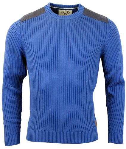 Tasker ALAN PAINE Mod Ribbed Military Knit Jumper
