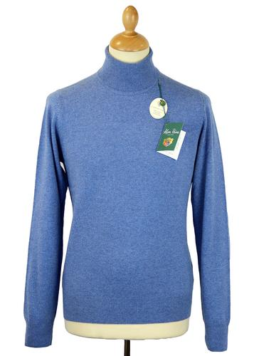 ALAN PAINE BUNBURY WOOL ROLL NECK RETRO 70S JUMPER