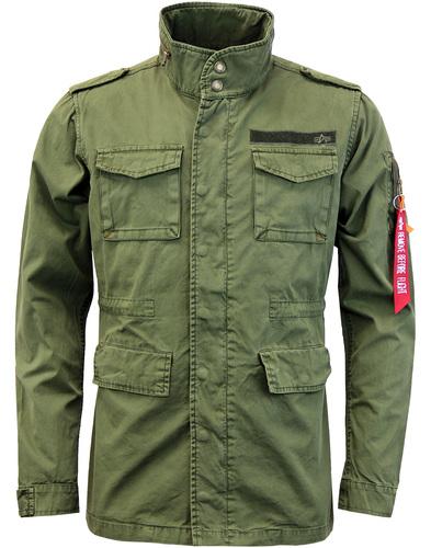 Alpha Industries huntington military jacket olive