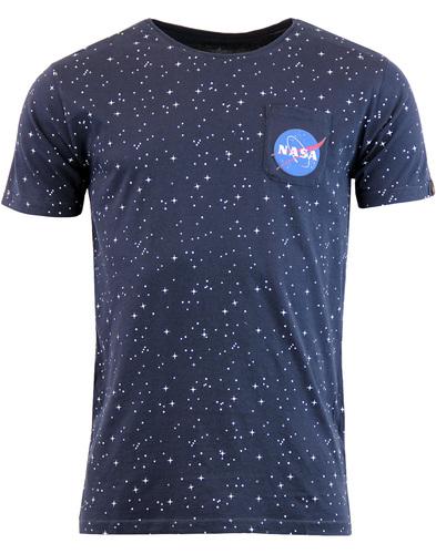 ALPHA INDUSTRIES Starry Retro NASA Pocket T-Shirt