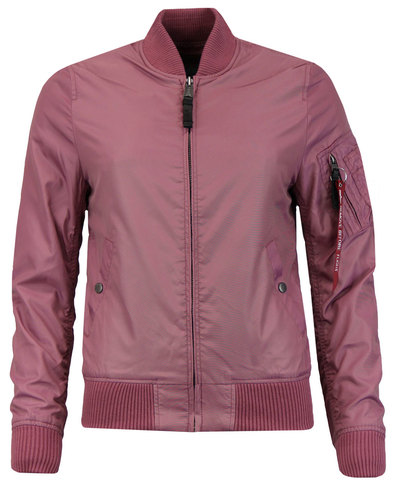 MA1 TT ALPHA INDUSTRIES Womens Bomber Jacket PINK