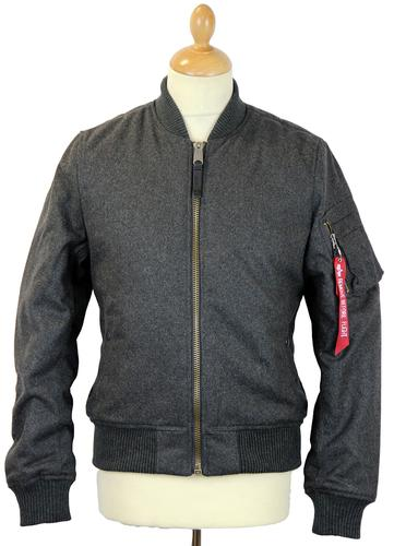 ALPHA INDUSTRIES MA1 WOOL JACKET RETRO MOD