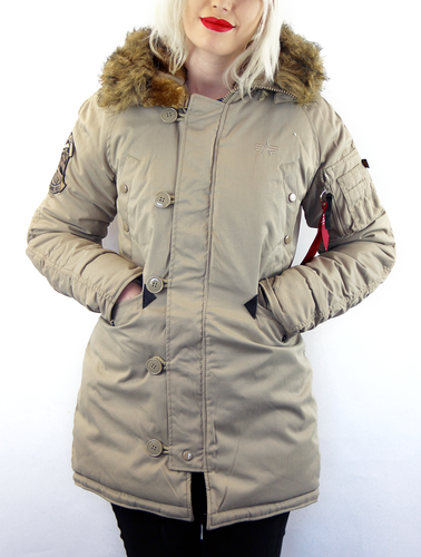 ALPHA INDUSTRIES WOMENS RETRO MOD EXPLORER PARKA