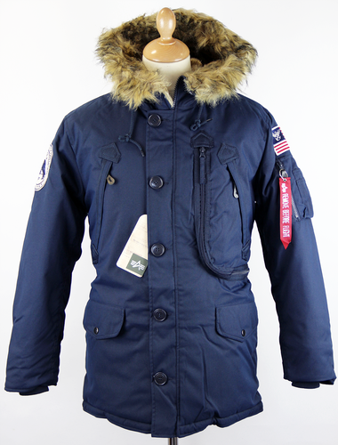 ALPHA INDUSTRIES POLAR EXPLORER PARKA COAT NAVY