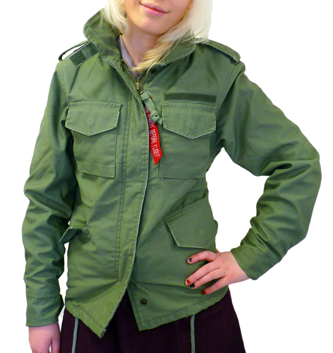ALPHA INDUSTRIES WOMENS RETRO VINTAGE ARMY JACKET