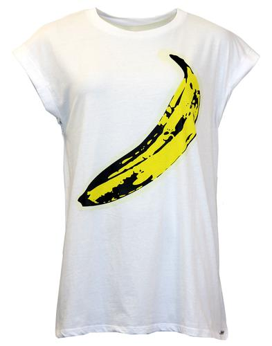 Split ANDY WARHOL Retro Pop Art Banana Print Top