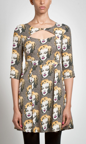 ANDY WARHOL MARILYN MONROE ANNIE DRESS 50s POP ART