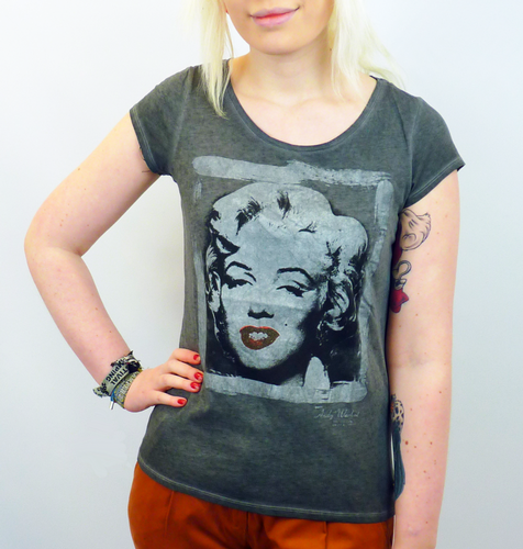 ANDY WARHOL MARILYN MONROE T-SHIRT POP ART 60S