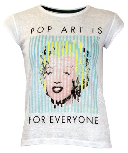 ANDY WARHOL MARILYN MONROE POP ART TEE