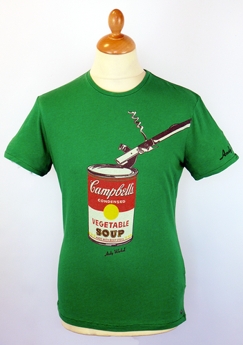 ANDY WARHOL CAMPBELLS SOUP CAN T-SHIRT 60S POP ART