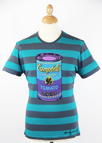 ANDY WARHOL RETRO 60s CAMPBELL SOUP POP ART TSHIRT