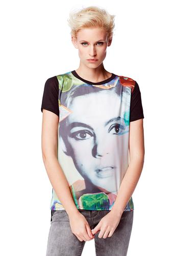 Andy Warhol Lulu Edie Sedgwick Retro Pop Art Top
