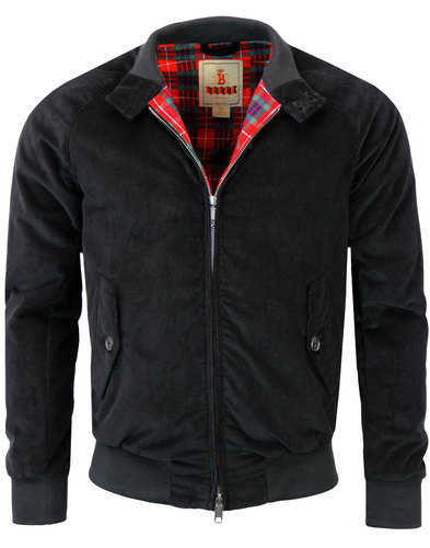 baracuta g9 light padded mod cord harrington black