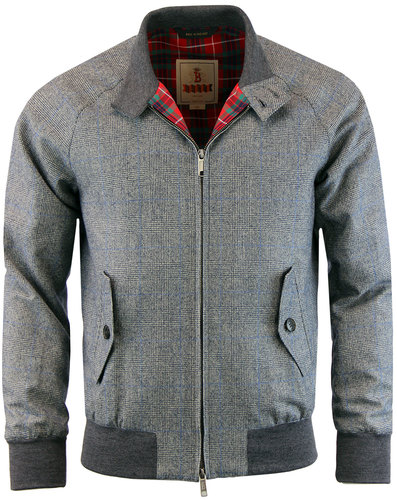 baracuta g9 retro 60s mod fox pow check harrington