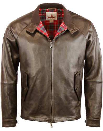 baracuta g4 oiled leather Dark borwn
