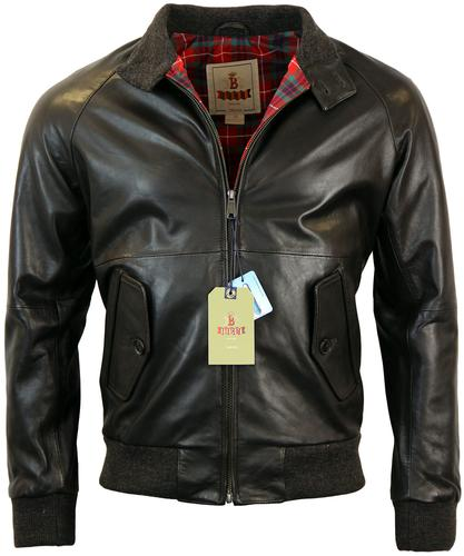 BARACUTA G9 ORIGINAL MOD LEATHER HARRINGTON BROWN
