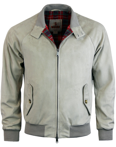 baracuta G9 Suede Harrington mist
