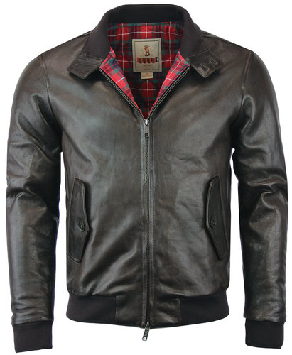 baracuta g9 sheepskin vintage leather harrington