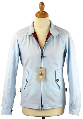 BARACUTA ORIGINAL G4 HARRINGTON JACKET LIGHT BLUE