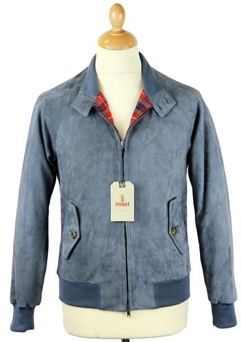 BARACUTA ORIGINAL G9 SUEDE HARRINGTON AVIO GREY