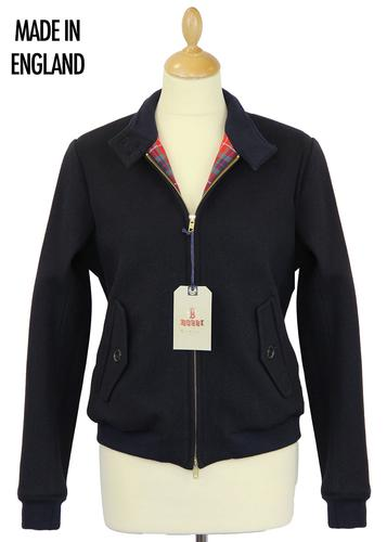 BARACUTA WOMENS MELTON G9 JACKET NAVY MOD