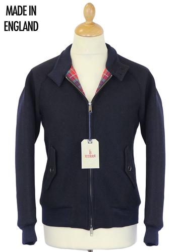 BARACUTA G9 MELTON HARRINGTON NAVY MOD JACKET