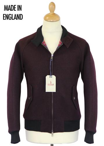 BARACUTA G9 MELTON HARRINGTON OXBLOOD MOD JACKET