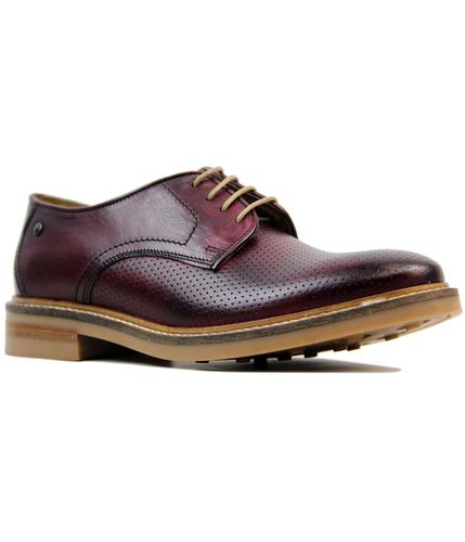 base london stanford retro mod perf derby shoes